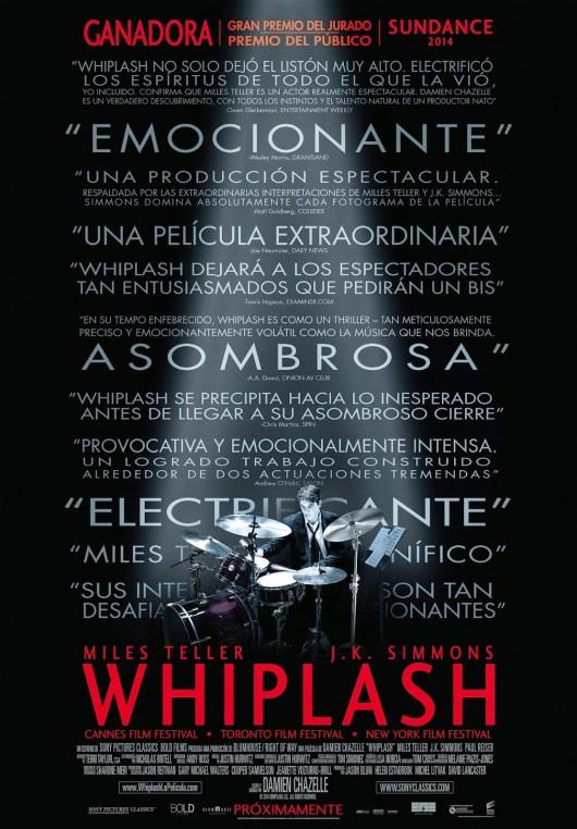 Póster y tráiler de 'Whiplash', que llegará en enero tras su paso por SEMINCI