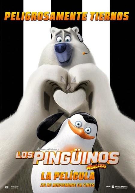 Pósters de personajes de 'Los Pingüinos de Madagascar: La Película'