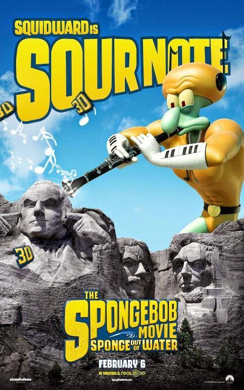 Primeros pósters de personajes de 'Bob Esponja: Un héroe fuera del agua'