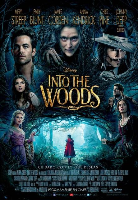 Todos los protagonistas reunidos en el nuevo póster español de 'Into the woods'