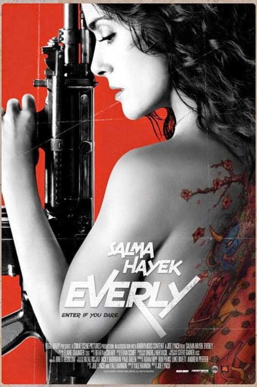 Póster y tráiler de 'Everly', con Salma Hayek