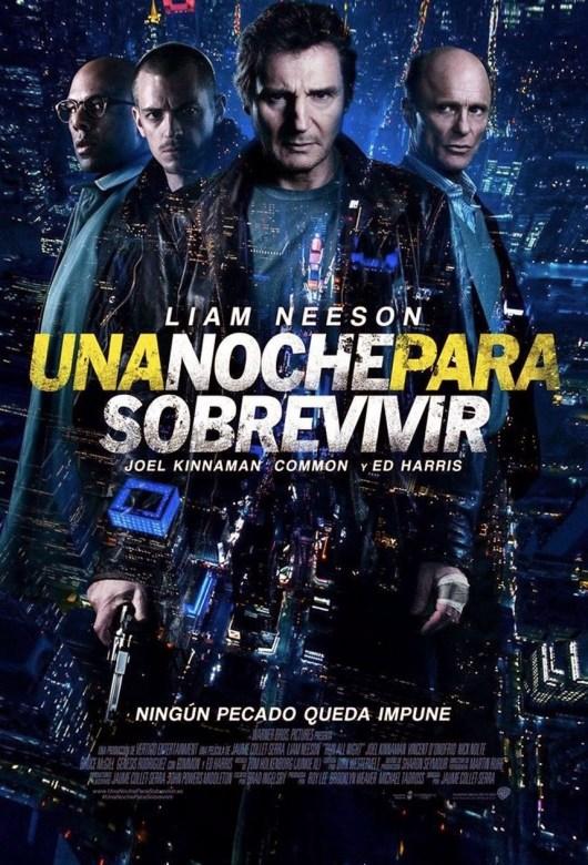Anuncio internacional y póster español de 'Una noche para sobrevivir' con Liam Neeson y Ed Harris