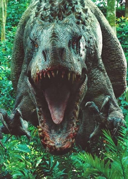 Foto al completo del Indominus Rex de 'Jurassic World'