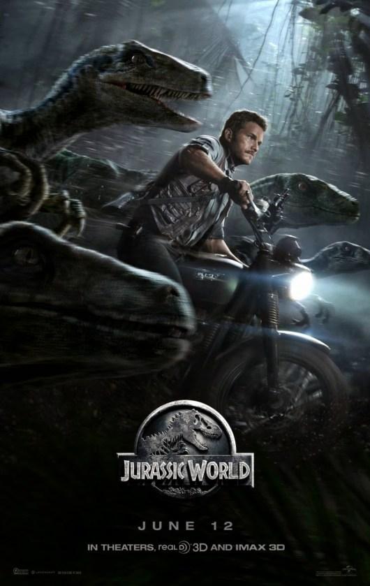 Chris Pratt y los velociraptors en el nuevo póster de 'Jurassic World'