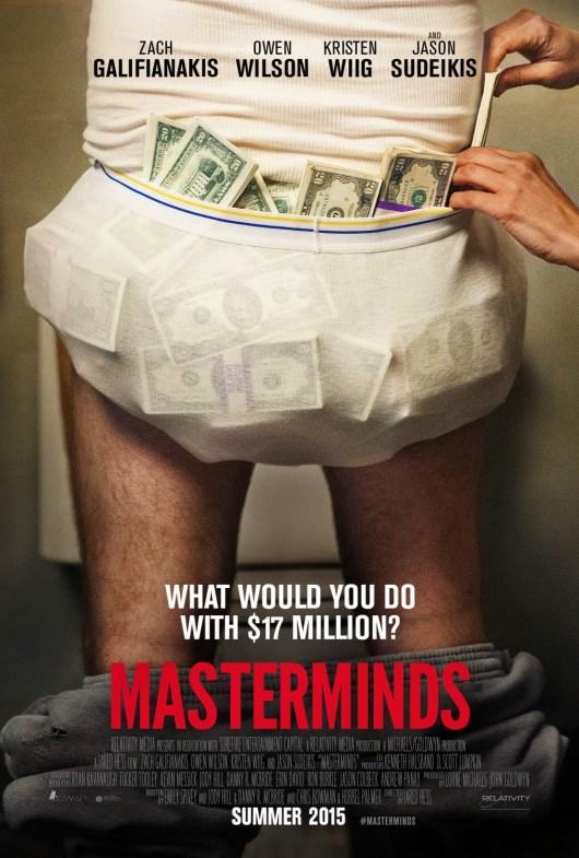 Nuevo póster y tráiler de la comedia 'Masterminds'