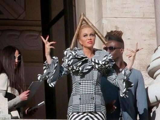 Primeras imágenes de Kristen Wigg en el rodaje de 'Zoolander 2'