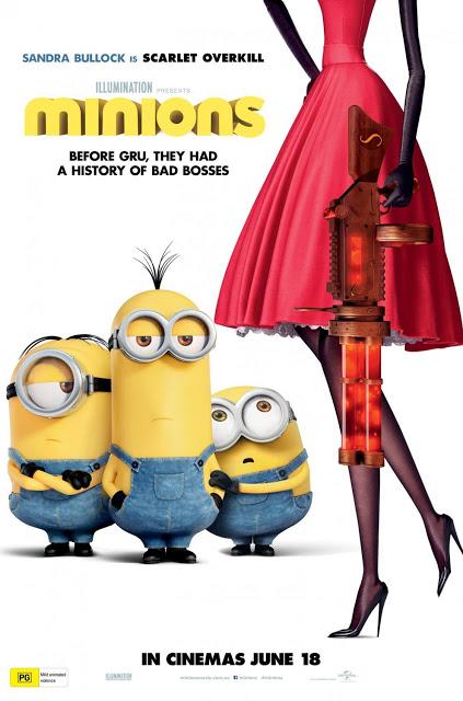 Nuevo póster de 'Los Minions' con la villana acaparando protagonismo