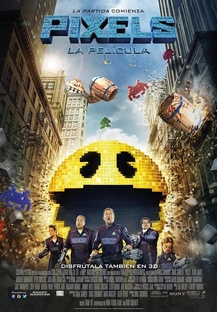 Póster oficial español de la comedia de acción 'Pixels'