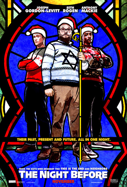 Seth Rogen, Joseph Gordon-Levitt y Anthony Mackie en el primer póster y tráiler de 'The Night Before'