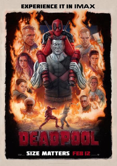 Póster y anuncio del estreno en IMAX de 'Deadpool'