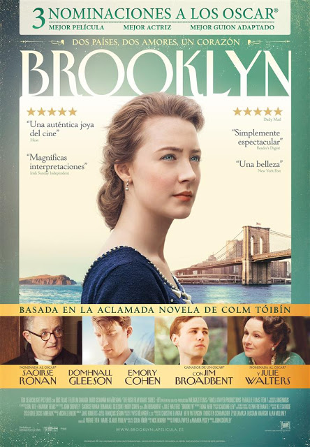 Tráiler y póster de 'Brooklyn', nominada a Mejor Película, Mejor Actriz y Mejor Guion Adaptado