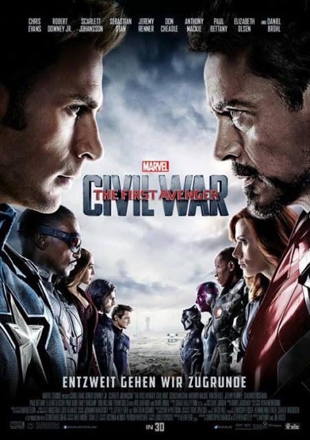 Nuevo póster de 'Capitán America: Civil War' con los protagonistas cara a cara