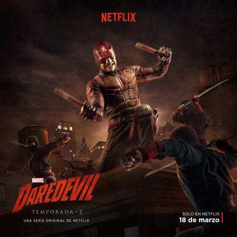 Nuevo póster de la segunda temporada de 'Daredevil' con el hombre sin miedo enfrentándose a los ninjasNuevo póster de la segunda temporada de 'Daredevil' con el hombre sin miedo enfrentándose a los ninjas