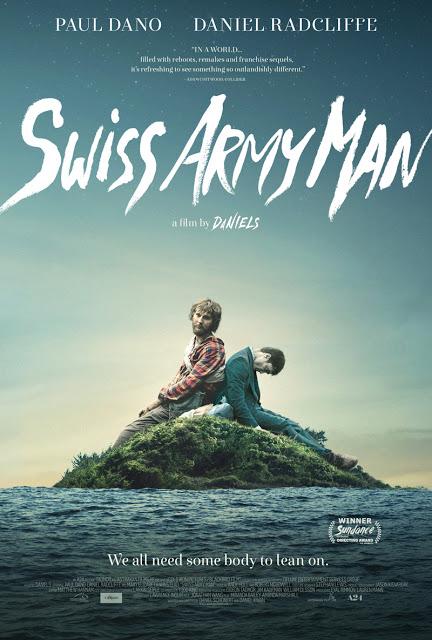 Daniel Radcliffe es un cadáver pedorro en el póster y el tráiler de 'Swiss army man'