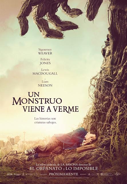 Teaser póster oficial de 'Un monstruo viene a verme'