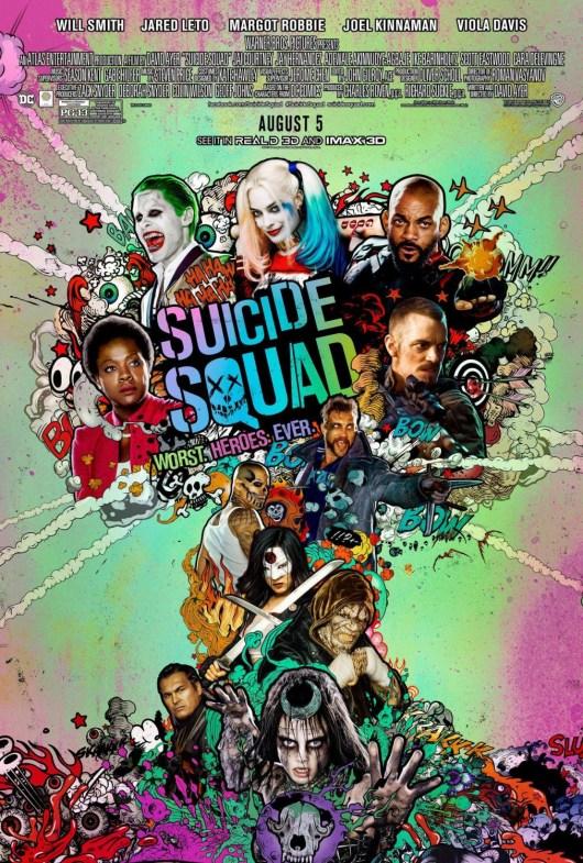 Nuevo y original póster de 'Escuadrón Suicida' ('Suicide Squad')