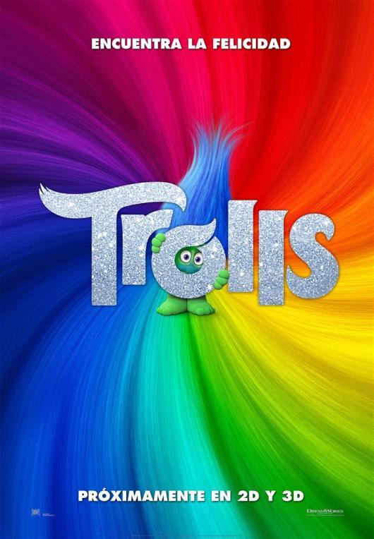 Nuevo tráiler y teaser póster español de 'Trolls'