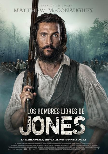 Póster y tráiler español de 'Los hombres libres de Jones'