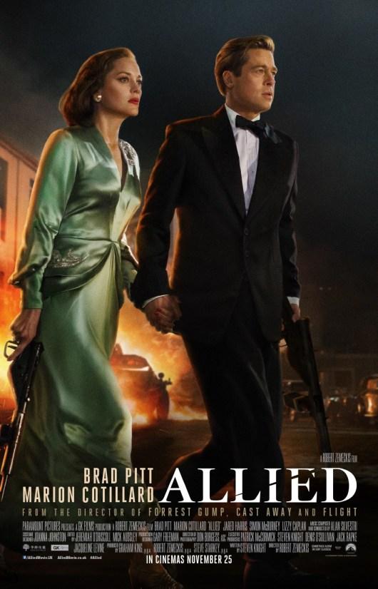 Nuevo póster internacional de 'Aliados' con Brad Pitt y Marion Cotillard