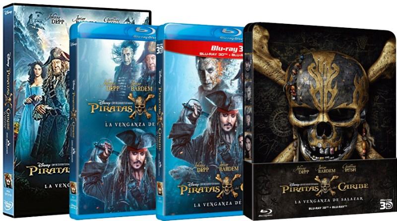 'Piratas del Caribe: La Venganza de Salazar': Ya a la venta en DVD, Blu-ray, Blu-ray 3D y Steelbook