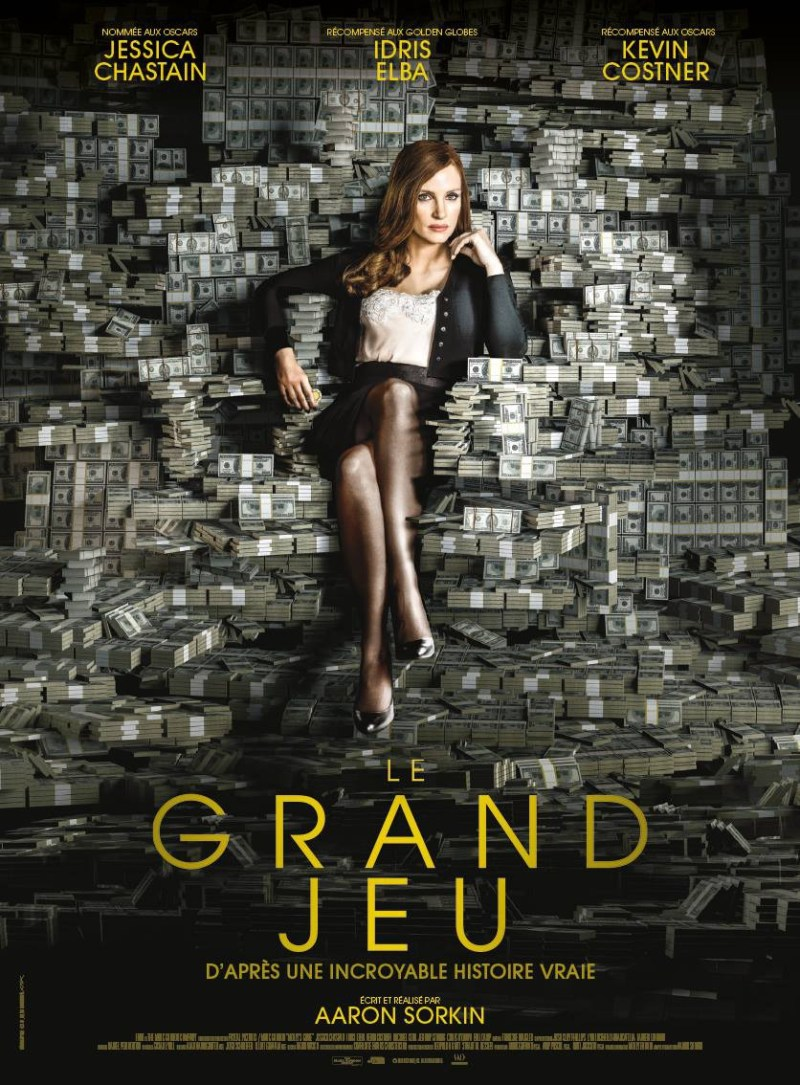 'Molly's Game': Póster francés del debut en la dirección de Aaron Sorkin