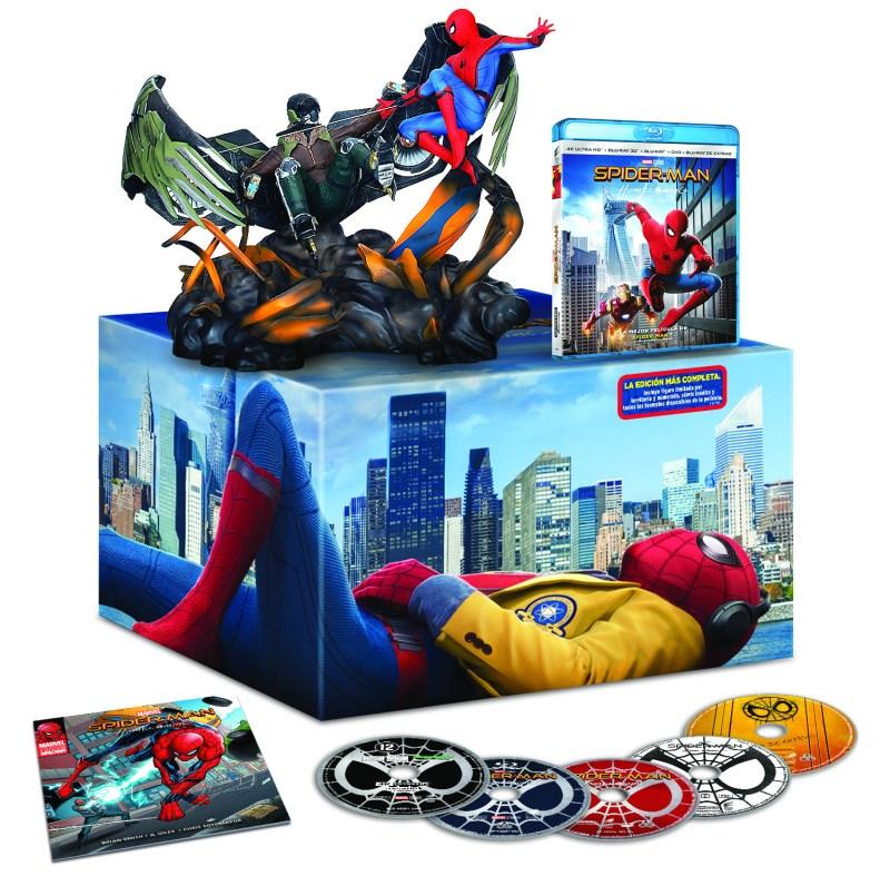 'Spider-Man: Homecoming': Ya a la venta en DVD, Blu-ray, 3D y 4K UHD, con siete ediciones diferentes