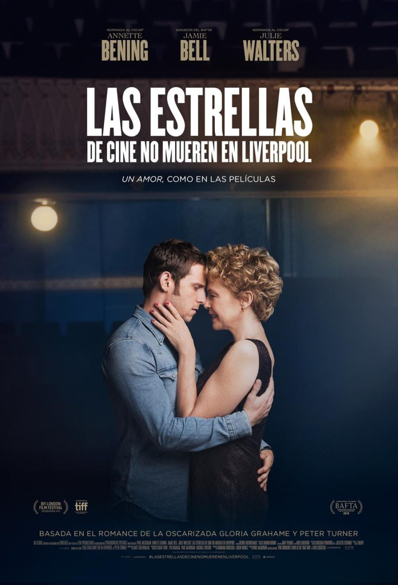'Las estrellas de cine no mueren en Liverpool': Póster y tráiler español