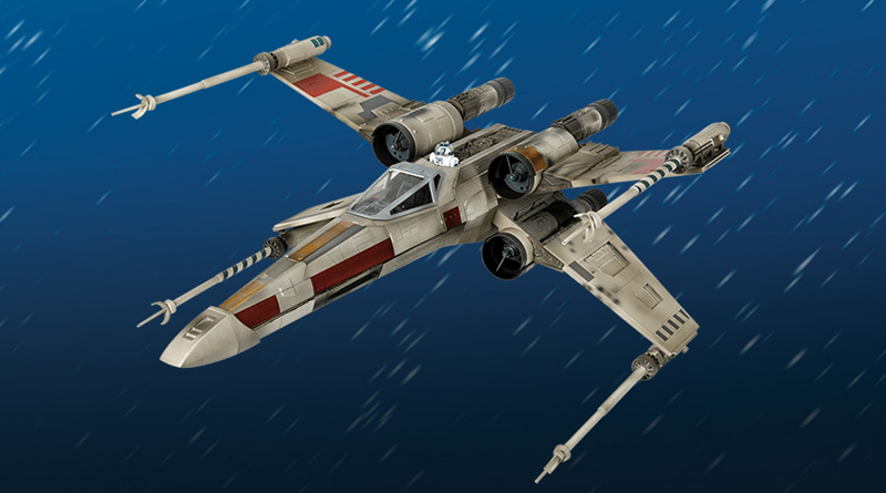 X-Wing, monta el legendario caza de Luke Skywalker