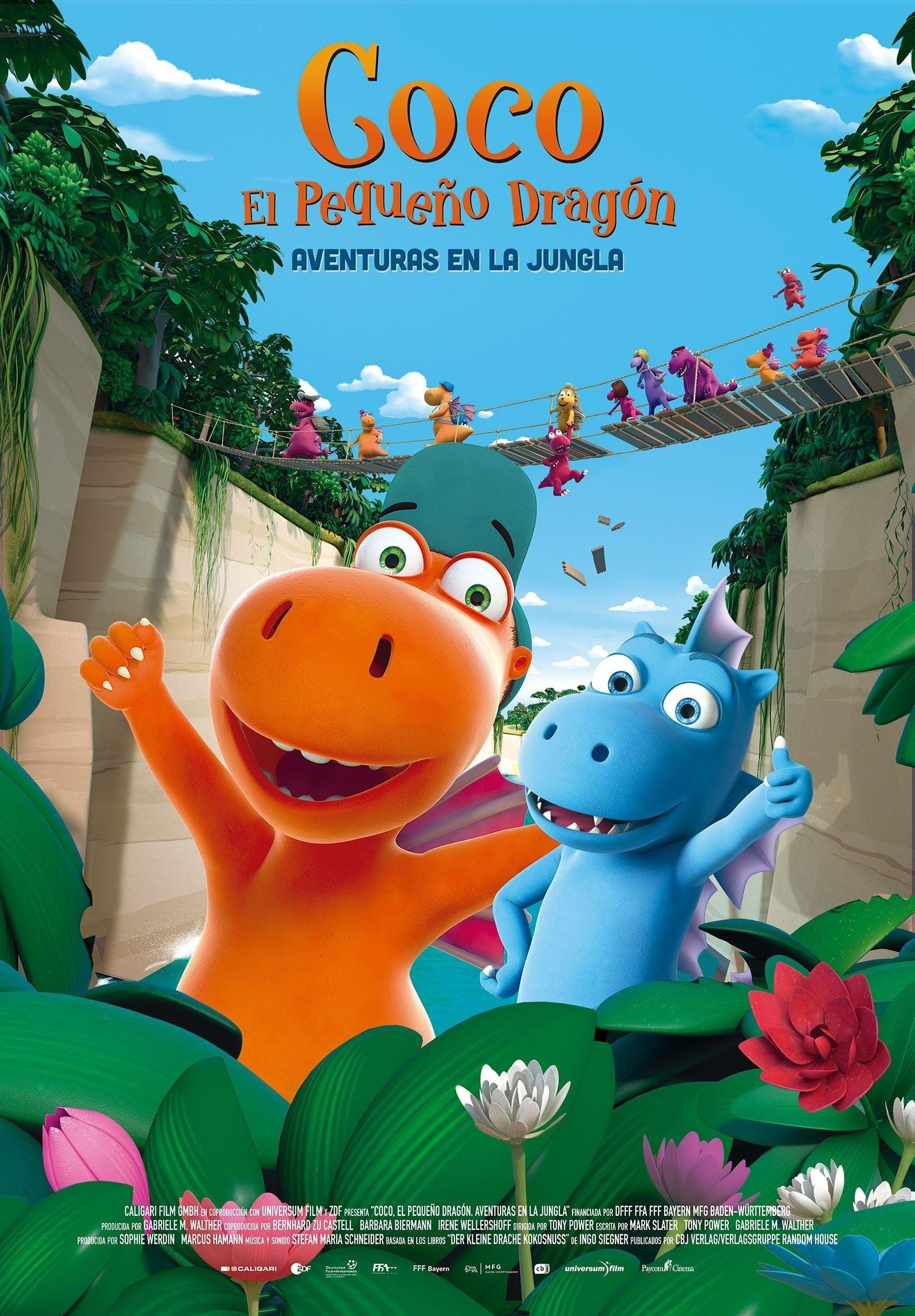 """Pósters de la película """"Coco, el pequeño dragón. Aventuras en la Jungla"""""""