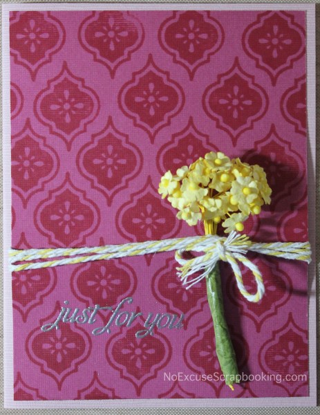 simple background stamped card