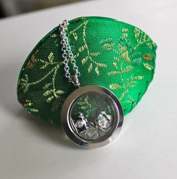 Origami Owl scrapbook themed locket