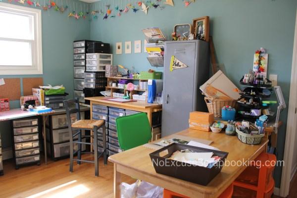 craft room || noexcusescrapbooking.com