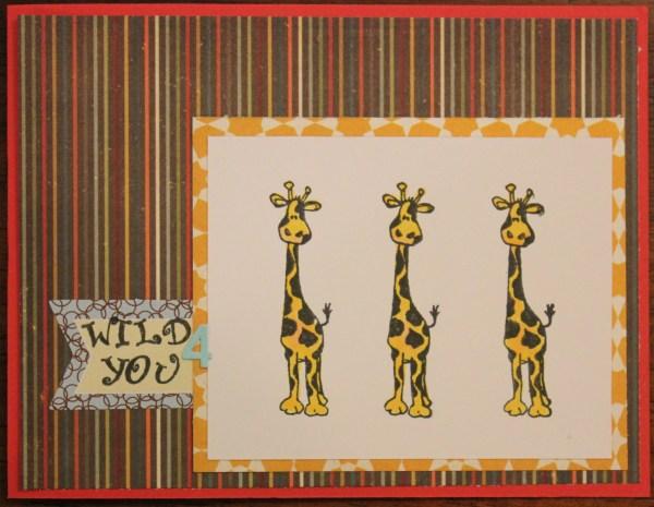 3 giraffes wild 4 U    noexcusescrapbooking.com