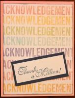 acknowledgement || noexcusescrapbooking.com