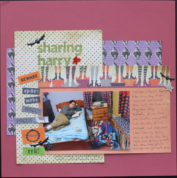 sharing harry || noexcusescrapbooking.com