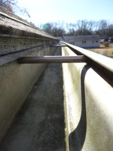 One sure sign of winter in New England is the clean gutter. That doesn't happen until all the leaves are down.