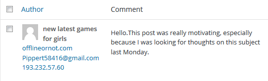 Spam comment