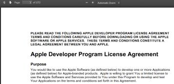Apple Developer Agreement