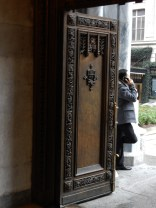 From the inside of the narthex, you can sense the mass of this entrance door