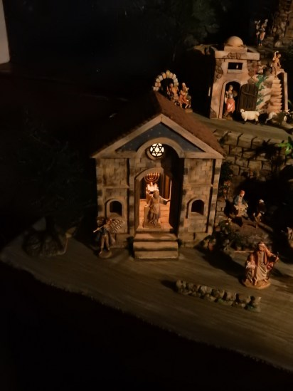 Close up of one of the Nativity scenes.