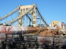 Andy Warhol Bridge being repaired