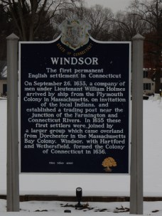 Windsor is one of two towns that claims to be CT's 1st town.