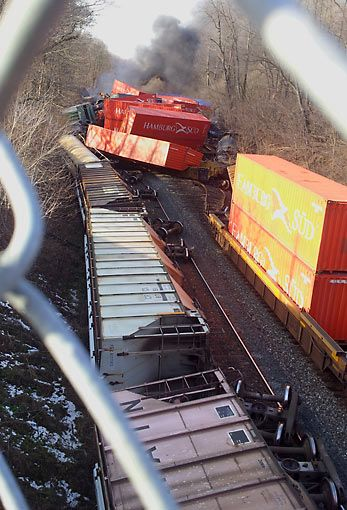 You could write about train wrecks that look like Starburst candy.