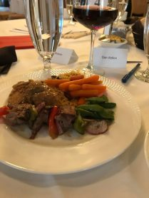 For the foodies - dinner at the meeting I was attending.