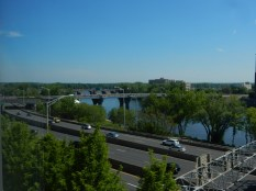 From CT Convention Center, across the river from Great River Park