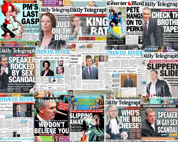 Newspaper Front Pages Collage