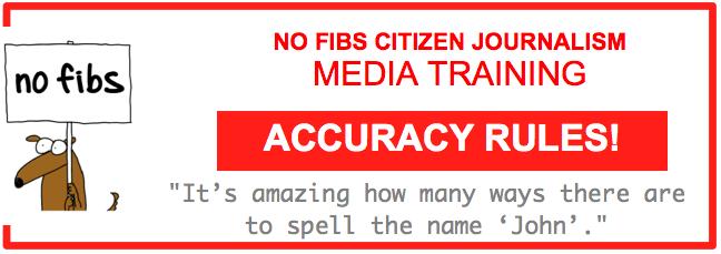 No Fibs media training Accuracy