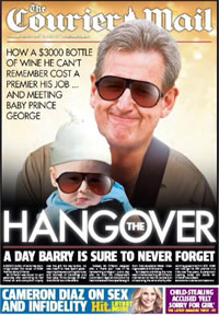 The wrong Premier: The Courier Mail publishes NSW Premier Barry O'Farrell on its front page.
