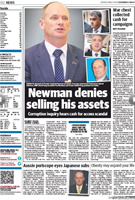 Cash For Campbell: Newman makes page 2 of Tuesday's Courier Mail
