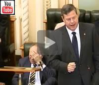 9 News Brisbane: The champagne sipping latte set: Treasurer Tim Nicholls attacks solar households.